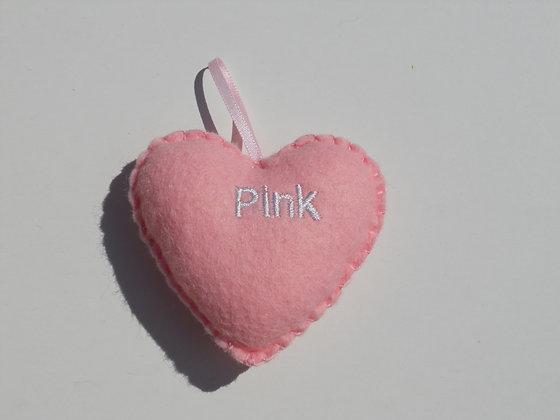 Pink Hanging Hearts