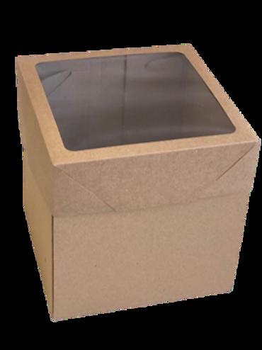 Caixas Micro Ondulado Bolo Decorado MVB20  ( 20x20x20cm) - Com Visor - 20 unid