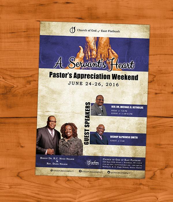 Pastor's Apprecition Flyer _ Victoria Johnson, Graphic Designer