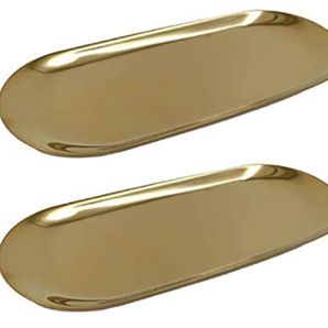 """9""""x 3.8"""" Stainless Steel Trays"""