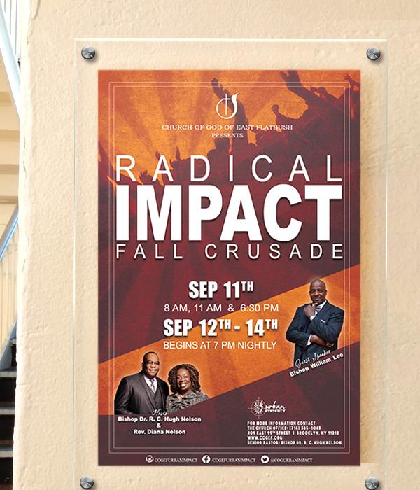Church Crusade Poster _ Victoria Johnson, Graphic Designer
