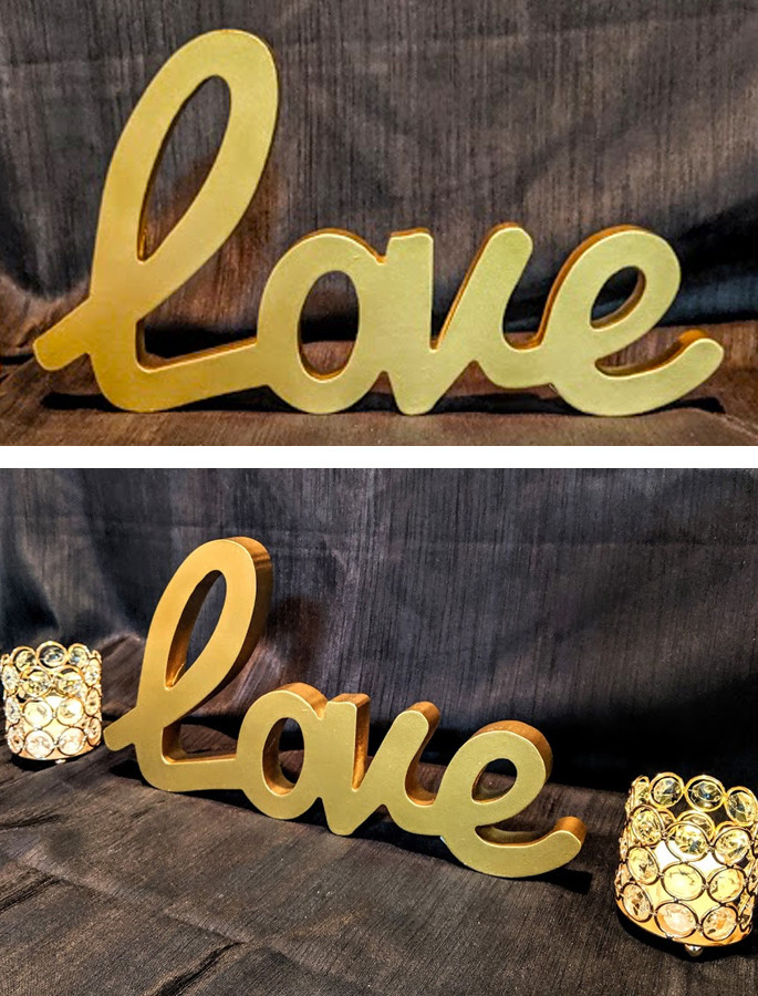 Wooden Gold Painted
