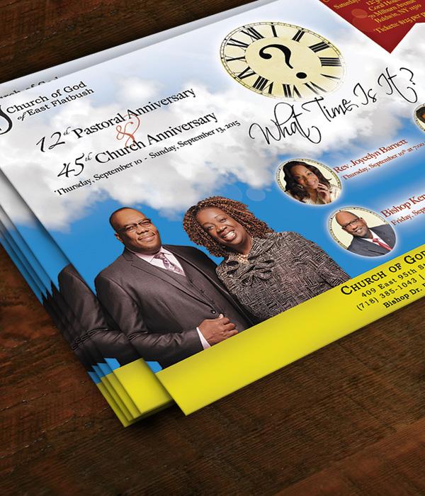 Church Anniversary Flyer _ Victoria Johnson, Graphic Designer