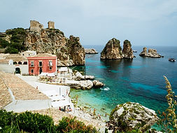 Haus an einer Bucht von Scopello