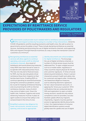 Expectations by Remittance Providers of Policymakers and Regulators
