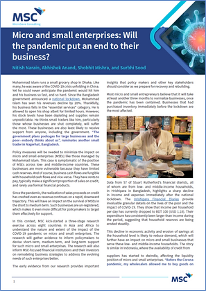 Micro and small enterprises- Will the pandemic put an end to their business