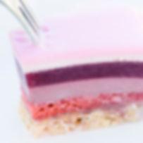 Inside de ROSE cake !! Layers of raspber
