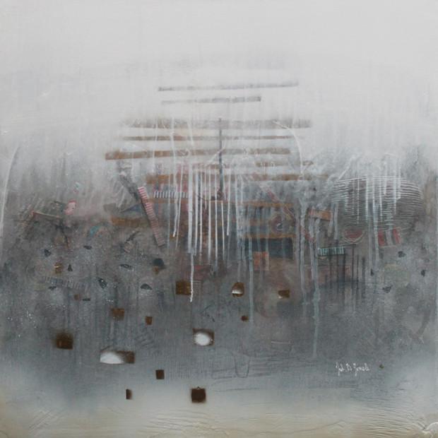Jemný déšť 70x70