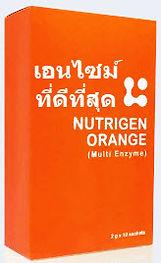 Nutrigen Orange Multi Enzyme (นูทริเจน ออเรนจ์ มัลติ เอนไซม์)          เอนไซม์ สกัดบริสุทธิ์ มากกว่า 10 ชนิด เข้มข้นกว่า 3-4 เท่า ได้รับการจดบันทึกในหนังสืออ้างอิงข้อมูลยาและผลิตภัณฑ์สุขภาพ (PDR) PDR เป็นแหล่งอ้างอิงข้อมูลทางวิชาการที่น่าเชื่อถือที่สุด สำหรับแพทย์ในการสั่งจ่ายยาหรือผลิตภัณฑ์ต่างๆที่ผ่านการอนุมัติจากสำนักงานคณะกรรมการอาหารและยา ของสหรัฐอเมริกาให้กับคนไข้