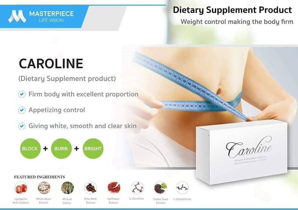 ลดน้ำหนัก หรือ ลดความอ้วน มีวิธีการหลากหลายมาก ขึ้นอยู่กับความเหมาะสมของแต่ละคนที่แตกต่างกัน เช่น วิธีลดน้ำหนัก หรือ วิธีลดความอ้วน แบบธรรมชาติ โดยการ ออกกำลังกาย รวมทั้งการรับประทานอาหารให้น้อยลง การรับประทานอาหารประเภท Clean Food แต่ปัญหาคือ คุณต้องเป็นคนที่วินัยในการรับประทานอาหาร มีวินัยในการควบคุมตนเองไม่ให้ออกนอกโปรแกรม ลดน้ำหนัก หรือ โปรแกรม ลดความอ้วน ที่ได้วางไว้เป็นขั้นตอน ซึ่งเป็นเรื่องยุ่งยากมากสำหรับหลายๆ คน แต่ วิธีลดน้ำหนัก หรือ วิธีลดความอ้วน แบบรับประทาน Caroline เป็นวิธี ลดน้ำหนัก ที่ง่ายมาก เพียงแค่ทานวันละ 1 เม็ด คุณจะได้ หุ่นดี หุ่นสวย ดั่งใจหวัง