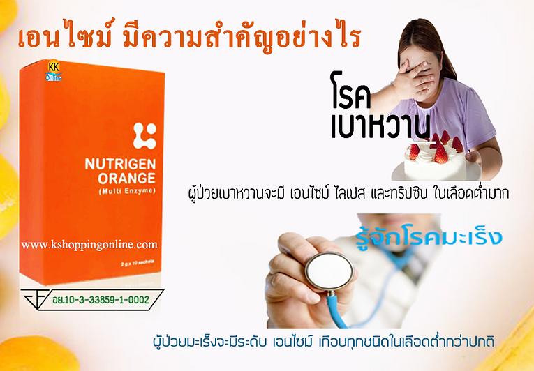 Nutrigen Orange Multi Enzyme,เอนไซม์,Nutrigen Orange,มัลติ เอนไซม์,โรค มะเร็ง,โรค เบาหวาน,โรคความดัน