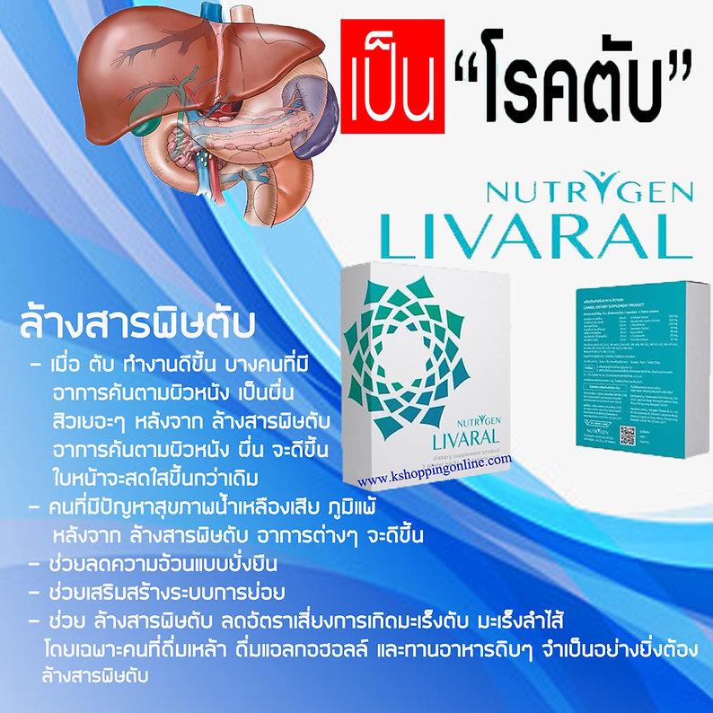Livaral,โรคตับ,ตับอักเสบ,ไขมันพอกตับ,ฟื้