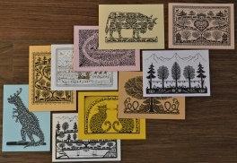 Cartes doubles A6 avec enveloppe, mélange (10 pièces)