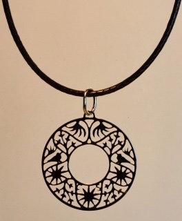 Collier, motif cercle, inox