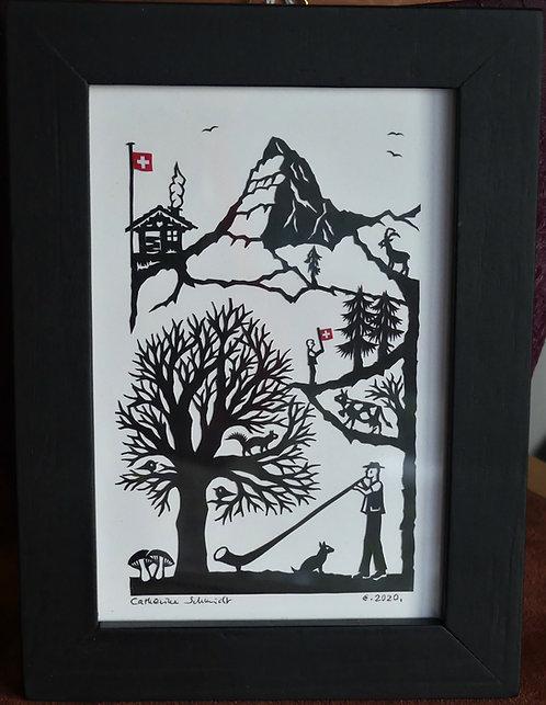 Cor des Alpes et Cervin, 13 x 17.6 cm