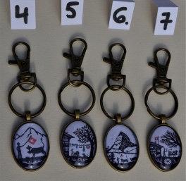 Porte-clés couleur laiton