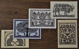 Cartes doubles A7 avec enveloppe, mélange (5 pièces)