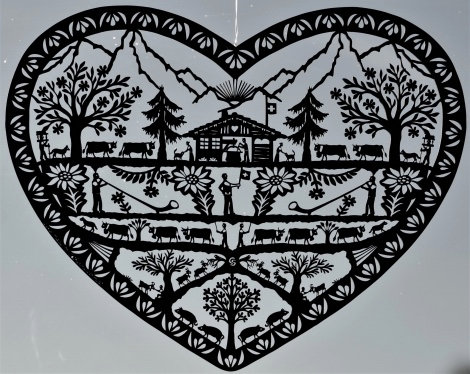 Coeur Cor des Alpes en MDF découpé