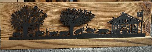 Décor poya-chalet sur bois