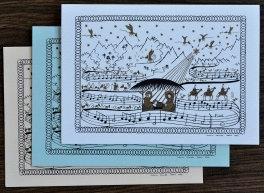 Cartes doubles A6 avec enveloppe, Noël (3 pièces)