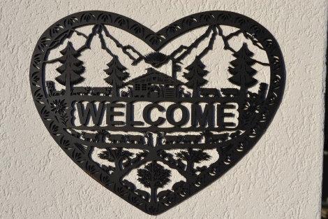 Coeur Welcome en MDF découpé