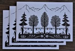 Cartes doubles A6 avec enveloppe, lessive (3 pièces)