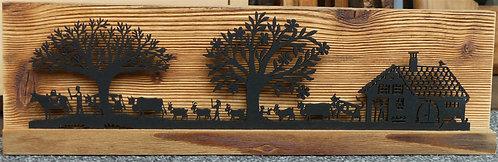 Décor poya-ferme sur bois