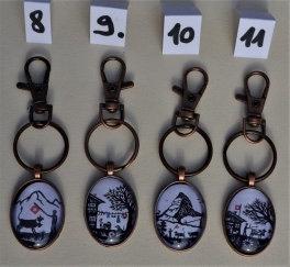 Porte-clés couleur cuivre
