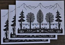 Cartes doubles A5 avec enveloppe, lessive (3 pièces)