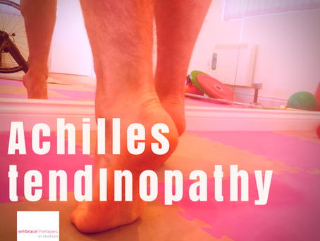 Achilles Tendon pain in Runners- you can see why they get grumpy....