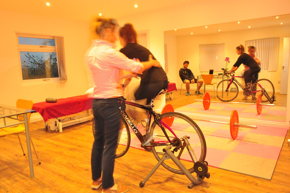 Self referral patient doing rehab with Physiotherapist