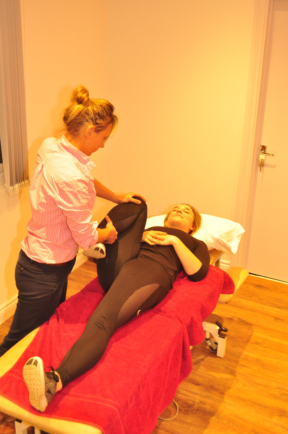Self referral patient getting assessed by Physio
