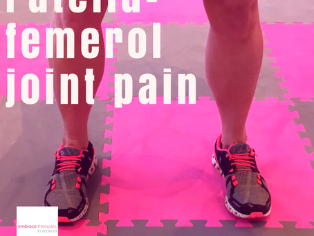 Anterior knee pain in runners- the old tracking on the car analogy.