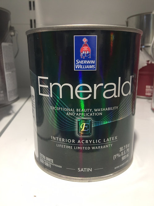 Краска для Внутренних Работ Акриловая Латексная Ультра-Матовая EMERALD 0.950 ml