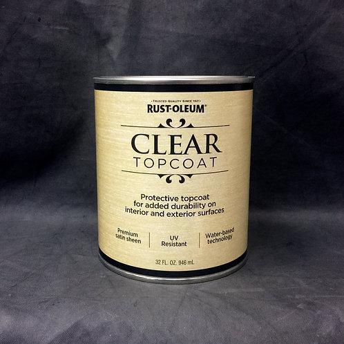 Прозрачное защитное покрытие - RUST-OLEUM CLEAR TOPCOAT