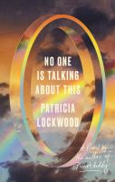 Lockwood, Patricia,No one is talking abo