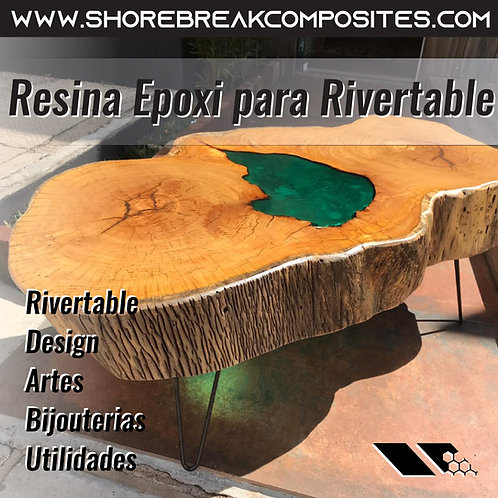 Kit Epóxi Rivertable Madeira - 7kg(5+2)+Pigmento