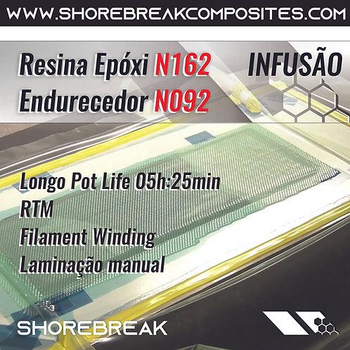 Resina Epóxi Infusão 1,01kg (GRANDES FORMATOS) N168/N092