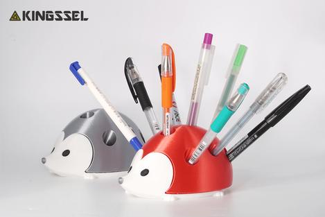 3D列印文具刺蝟筆筒