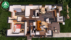 Könnyűszerkezetes ház - Alaprajzi látvány