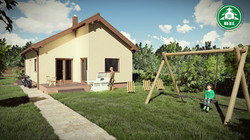 Könnyűszerkezetes ház - Kivágott tető