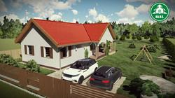 Könnyűszerkezetes ház - Klasszikus terasz