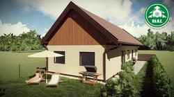 Könnyűszerkezetes ház - Faburkolatos oromfal