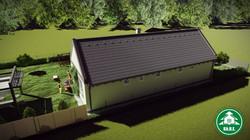 Könnyűszerkezetes ház - Oldalhatáros beépítés