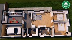 Könnyűszerkezetes ház - Alaprajzi nézet