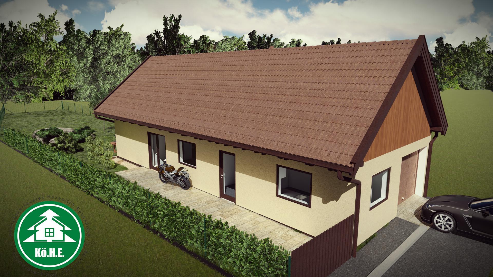 Könnyűszerkezetes ház - Tornác