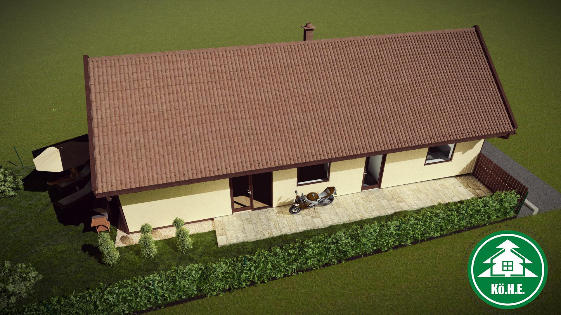 Könnyűszerkezetes ház - Terasz
