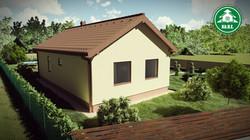 Könnyűszerkezetes ház - Udvari homlokzat