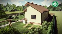 Könnyűszerkezetes ház - Kivágott tető 2.