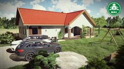 Könnyűszerkezetes ház - L alakú tető 1.